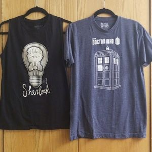 Tops - Doctor Who/Sherlock Shirt Set